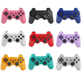 Wholesale Hot Bluetooth Wireless Controller Game Controller Joysticks For PS3 Available Real SixAxis No retail box DHL Free Shipping