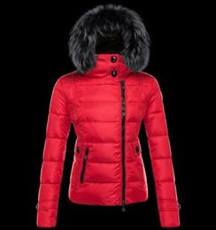 Chinese  Free ship logo M women down jacket thickening Short down parkas 100% real raccoon fur collar hood down coat S-XXL manufacturers