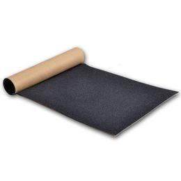 Discount skateboard decks - Anti-skid Skateboard Griptape Whole Black Emery Double Thickened Skate Board Sandpaper Skateboarding Deck Grip Tape 83*2