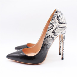 China Free Shipping women lady woman black white python Patent leather Poined Toes Wedding heels Stiletto High Heels shoes pumps boots 12cm 10cm cheap white wedding boots heels suppliers