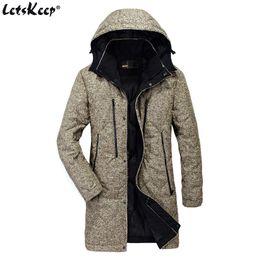 long warm parka mens 2019 - LetsKeep Winter hooded Parka Jacket men Warm Windbreaker Long Trench coat Mens Outerwear parka clothing pocket Plus Size