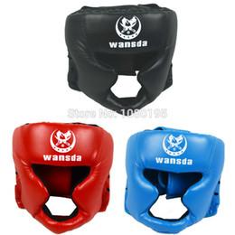 Head Protection Gear Australia - Boxing Helmet Closed Type Boxing Head Guard Sparring Mma Muay Thai Kick Brace Head Protection Gear Ha28101110