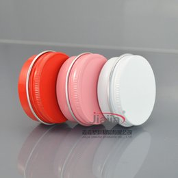 gold cream jars 2018 - 30 pieces 30g Empty aluminum jar 30 gram metal cream jar 1oz silver aluminum tin cosmetic container red Black pink gold