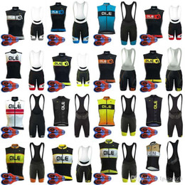 Lycra Sports NZ - ALE team Cycling Sleeveless jersey bib shorts 9D Gel Pad sets Breathable Mtb Bike Sport Quick Dry Ropa Ciclismo Lycra D1306