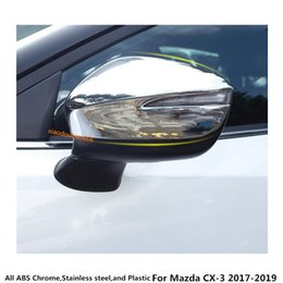 wholesale chrome accessories NZ - For Mazda CX-3 CX3 2017 2018 2019 ABS chrome styling decoration Car rear view Rearview Side glass Mirror Cover trim frame accessory 2pcs
