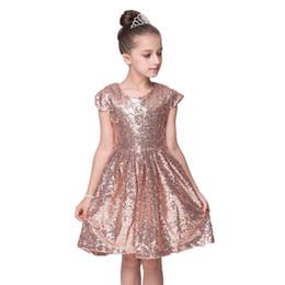 588e142f18b6 2018 New Summer Christmas Cute flower Girls Dress Sequined Mesh Girl  Clothing Sleeveless Princess Dresses Girl Costume Kids girls