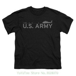 X helicopter online shopping - Tops Tees Men Cotton U s Army Boys Helicopter T shirt Youth X Large Black