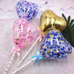 $enCountryForm.capitalKeyWord Australia - Sweet Heart Sequins Balloon Cake Toppers Cupcake Dessert Topper Birthday Cake Decoration Wedding Festival Party Supplies