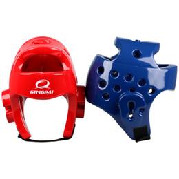 Head Protection Gear Australia - Taekwondo Helmet Sanda Kick Boxing Head Guard Headgear Protector Sparring Gear Helmet Karate Muay Thai Taekwondo Head Protection
