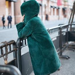 52baa07d166 Women Thick Eye NZ - GTGYFF green hooded faux fur jacket coat medium women  winter woman