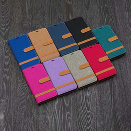 leather case iphone id Australia - Jean Hybrid Leather Wallet Case For Iphone XR 6.1 XS MAX 6.5 For Nokia 5.1 3.1 2.1 Cloth Hit Color Flip Cover Pouch Card ID Slot Holder