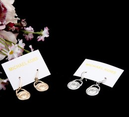 Wholesale New York Fashion Dangle Earrings letters wedding brand jewelry for women Gold Silver