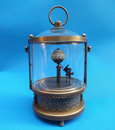table clock mechanical Canada - Rare brass Fish Mechanical Table Clock Decorations