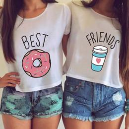 $enCountryForm.capitalKeyWord Canada - Women Crop Top Funny Printed T Shirt Cotton O-neck Short Sleeves Pullover Best Friend Printing Women's Summer Basic Tee