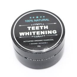Teeth Whitening 30g Carbone polvere naturale attivato Teeth Bamboo dentifricio sbiancante polvere Food Grade igiene orale in Offerta
