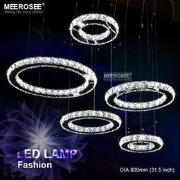 $enCountryForm.capitalKeyWord NZ - Good K9 Crystal Chandelier Circle Stainless Steel Crystal Hanging Light Diamond Luminaires LED Crystal Lamp for Home Decoration