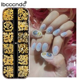 $enCountryForm.capitalKeyWord NZ - 3D Decorations Gold Hollow Nail Art Metal Nail Sea Shell Starfish Mixed Studs DIY Decoration Rhinestone Body Stickers