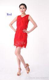 2f701d3a253 fashion Adult Fringe leaves Latin dance costumes tango cha cha samba rumba  world competition dance dress A0307