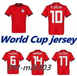 0a9e1ec41 2018 Egypt Jersey soccer M. SALAH world cup Home Red 18 19 KAHRABA national  team men short sleeve footbal SHIRT maillot de foo customize