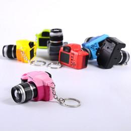 Toy Digital NZ - Funny LED Luminous Sound Glowing Pendant Keychain Bag Accessories Car Key Chains Kids Digital SLR Camera Toy