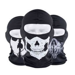 skeleton tactical mask 2019 - New Ghost Skull Masks Skeleton Hats Tactical Cosplay Costume Army Hats Hood Motorcycle Bicycle Halloween Full Face Masks