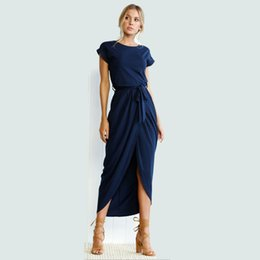 a2c3572ee2 Señoras de las mujeres maxi vestido otoño 2018 manga larga estilo coreano  azul elegante vestido largo XXL hembra de gran tamaño