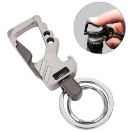 Smart car keychain online shopping - Key Chain Bottle Opener High end Men s Car Waist Stainless Steel Metal Keychain Two Ring Car Keychain Smart Key Holder