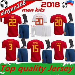 9ee612f511c Spain home Jerseys 2018 world cup Adult kits RAMOS ISCO ASENSIO THIAGO  MORATA Football uniforms18 19 Away Espana soccer jersey men kit shirt