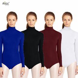 Discount sexy green catsuit - Ainclu Womens High Quality Lycra Zentai Cosplay High-necked Short Sexy Yoga Clothes Half-bag Performance Ballet Dancewea