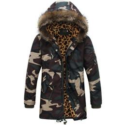 Wholesale camo parka for sale – winter Men s Winter Leopard Camouflage Cotton Jackets High quality Men s Camo Parkas Snow Winter Coat S M L XL XXL