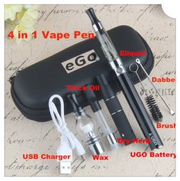 $enCountryForm.capitalKeyWord Australia - Evod 4 in 1 Vape Starter Kit 4in1 UGO Multi Vaporizer Pen eGo 4 in one Dry Herb Wax Oil Ejuice Dab Atomizer