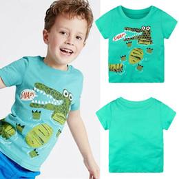 $enCountryForm.capitalKeyWord Australia - Children Summer T Shirt Cartoon Crocodile Short Sleeve T-Shirts For Boys Girls Tops Kids Boys T-shirts Green for 1-6y