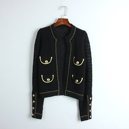 Wholesale black v neck cardigan sweater for sale - Group buy 812 Autumn Women Sweater Regular Long Sleeve V Neck Pure Color Black Cardigan Panelled Fashion Women Clothes DL