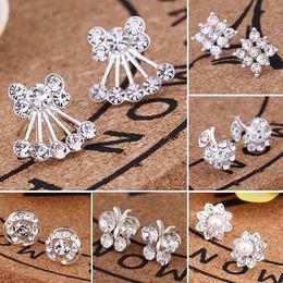 $enCountryForm.capitalKeyWord Australia - Fashion Womens Girl 925 Silver Pearl Earrings Cute Butterfly Animal Ear stud Earrings Jewelry Gift Hot Sale in UK, Wholesale Factory Price