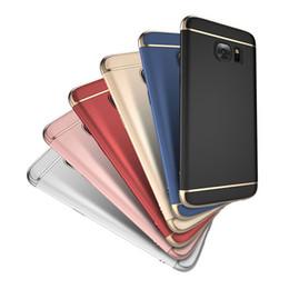 Vente en gros Pour Samsung Galaxy S7 S8 S9 Coque Coque S8 Plus S9 Plus S7 Edge Plaqué Or Couverture Arrière Protéger Shell Funda
