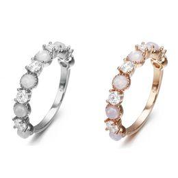 Fashion Jewelry Engagement Rings NZ - Women Fashion Sterling Silver Vintage Opal Ring Wedding Rings Engagement Wedding Party Jewelry