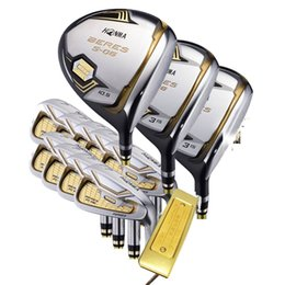 honma golf clubs 2019 - New mens Golf clubs HONMA s-06 3 star golf complete set of clubs driver+fairway wood+putter graphite golf shaft headcove