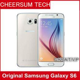 Discount 3g unlocked cells phones - Original Samsung Galaxy S6 SM-G920 G920A G920T G920P G920V refurbished Smartphone 5.1Inch 3G 32G Unlocked Cell Phone