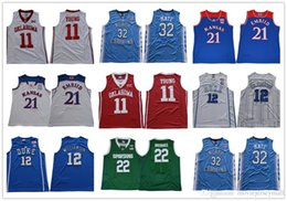 a0a30b756 NCAA 2018 North Carolina Maye Jersey Oklahoma YOUNG Embiid DUKE 12  Williamson 22 Bridges 45 Donovan Mitchell College Basketball Jerseys