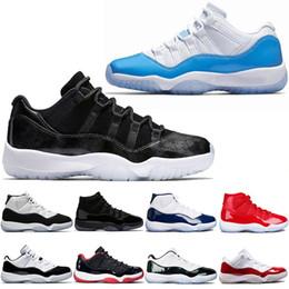 innovative design fcc17 54c6c Nike Air Jordan 11 Retro Männer 11 11s Basketball Schuhe Cap und Kleid  Gamma blau schillernden Gym Red UNC Concord gezüchtet Trainer Sport  Turnschuhe Größe ...