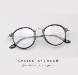 $enCountryForm.capitalKeyWord Australia - SPEIKE Customized prescription Eyewear New Fashion round frame R 2477F For Men and Women can be myopia glasses reading glasses