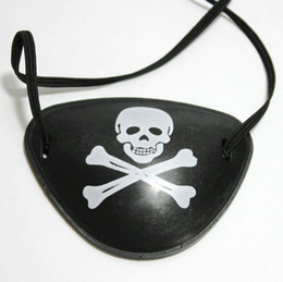 Costumes Parties Australia - Creative Pirate Eye Patch Skull Crossbone Kids Toy For Halloween Party Favor Bag Costume Cosplay Supplies LX3397