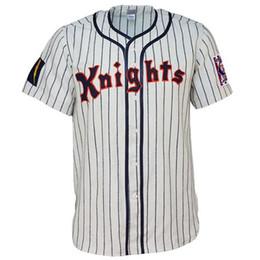 a7d5d47092173d New York Knights 1939 Home Jersey 100% bordado cosido Logos Vintage  Baseball Jerseys Custom Cualquier nombre Cualquier número Envío gratis