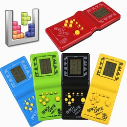 tetris console 2019 - Classic Tetris Hand Held LCD Electronic Game Toys Brick Game Riddle Handheld Games Players Console Pocket Toy Gift Rando