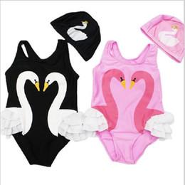 China Girls Bikinis One Piece Swimsuits Baby Swimwear Children Bathing Suit Kids Monokini Swan Flamingos Cartoon Summer Top qo406 suppliers
