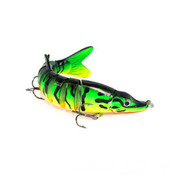 Chinese  12.5cm 5in 17g 0.6oz Lifelike Swimbait Pike Muskie Multi Jointed Northern Firetiger Pesca Fishing Lure 8-segment Hard Minnow Bait Crankbait manufacturers