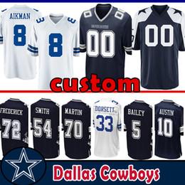 d0e562918af Cowboys Football Jerseys UK - 8 Troy Aikman custom Jersey Dallas Cowboys 72  Travis Frederick 54