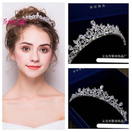 korean trendy glasses 2019 - New exquisite Korean full zircon bridal tiara crown   wedding dress accessory hair accessories   into the shop to choose