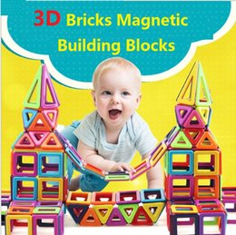 magnetic toy building blocks Canada - Mini 64PCS Magnetic Constructor Designer Toys For Boys Girls Building Blocks 3D Educational DIY Bricks For Children