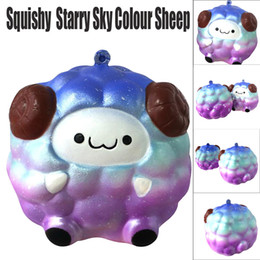 soft toy sheep wholesale Canada - Squishy Soft Sheep Cartoon Squishy Slow Rising Squeeze Stress Reliever Toy Phone Straps Ballchains